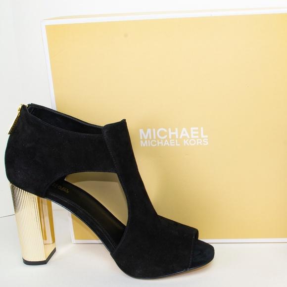 6dec1d2733 MICHAEL Michael Kors Shoes | Open Toe Heel Sandals Black | Poshmark